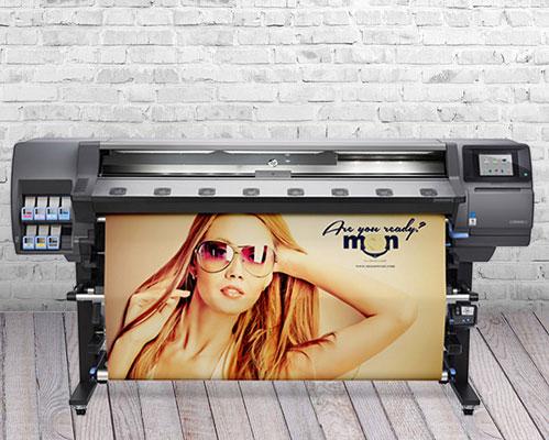 HP Latex Drucker 360 im Betrieb