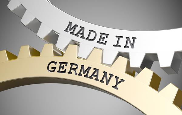 Umweltfreundliche Druckmedien - Zahnräder mit Schriftzug Made in Germany
